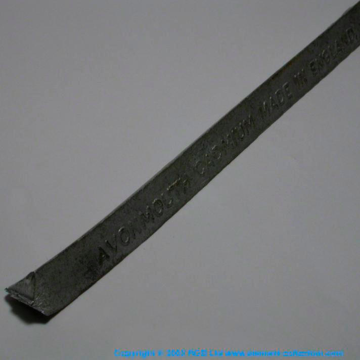 Cadmium Triangular bar