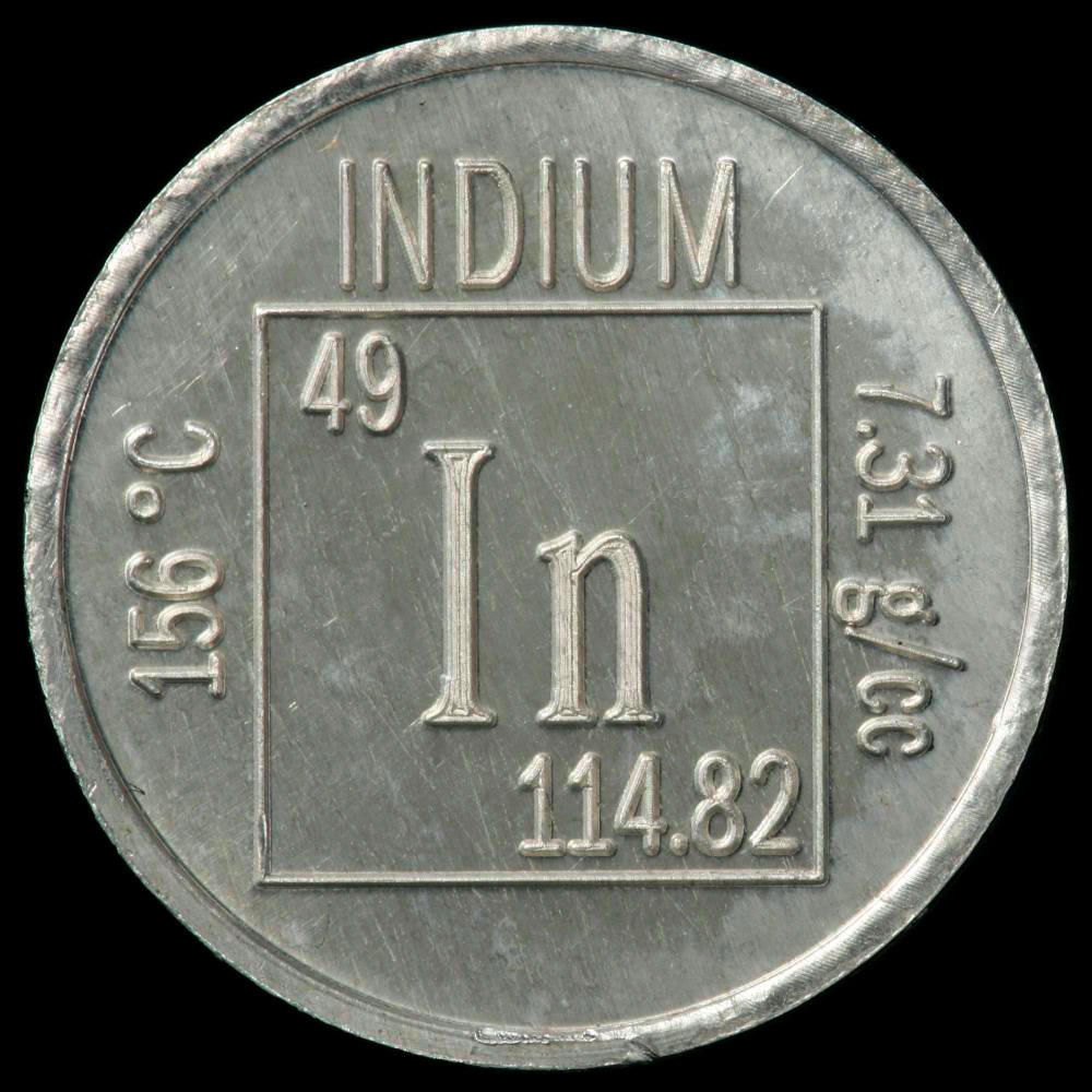 Element coin a sample of the element indium in the periodic table indium element coin gamestrikefo Gallery