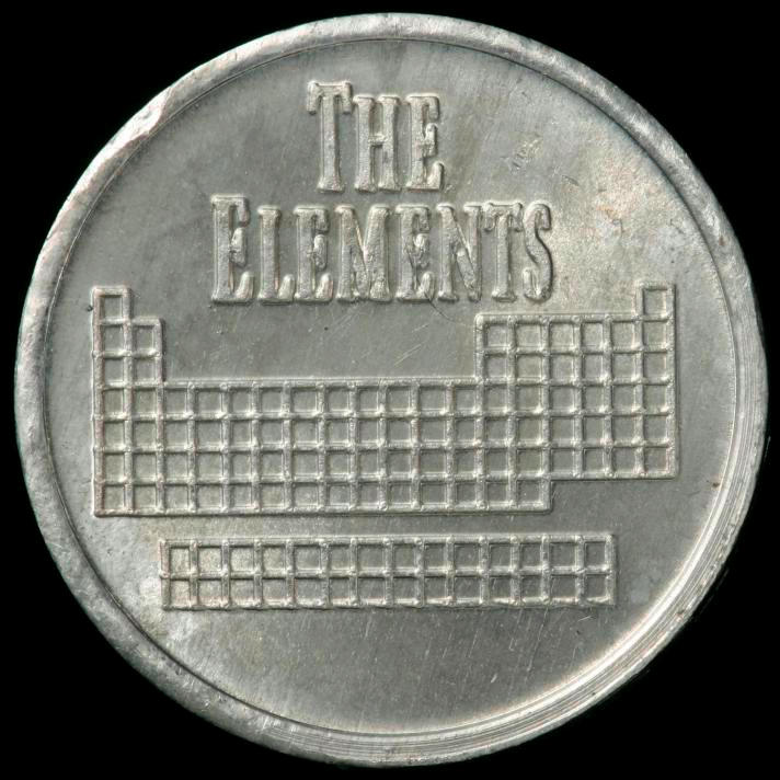 Indium Element coin