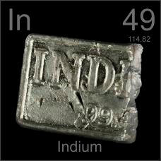 Indium Cut ingot