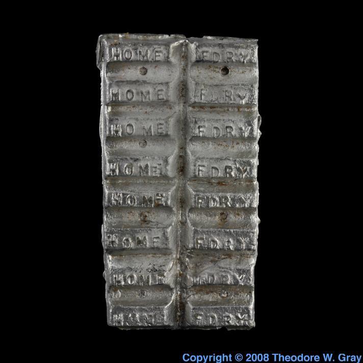 Mini tin lead casting alloy ingots a sample of the