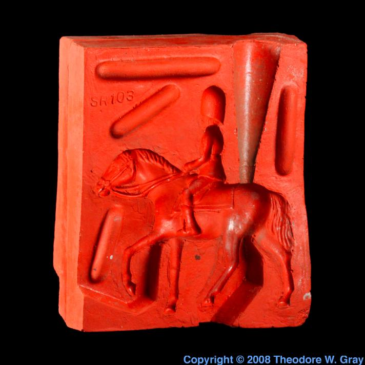 Tin Tin soldier mold