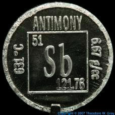 Antimony Element coin