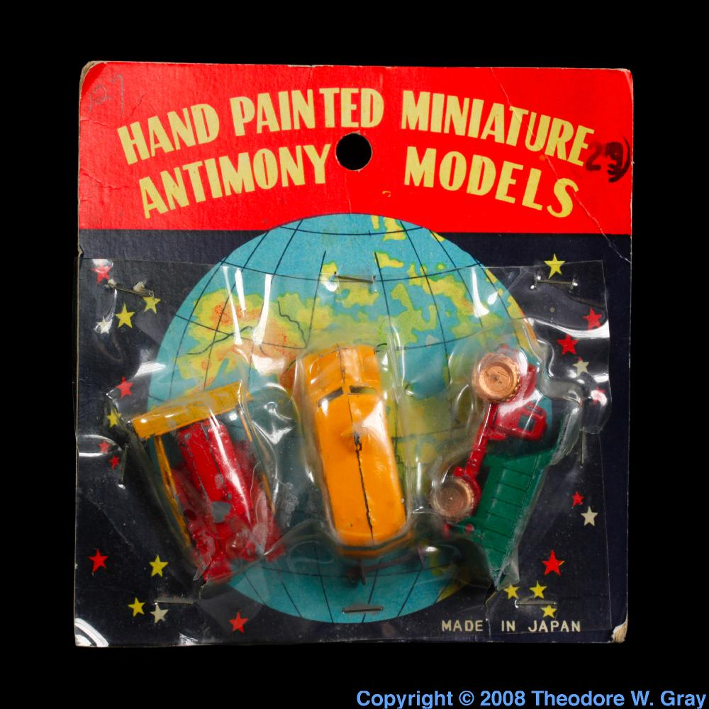 Hand painted miniature antimony models a sample of the element antimony hand painted miniature antimony models gamestrikefo Choice Image