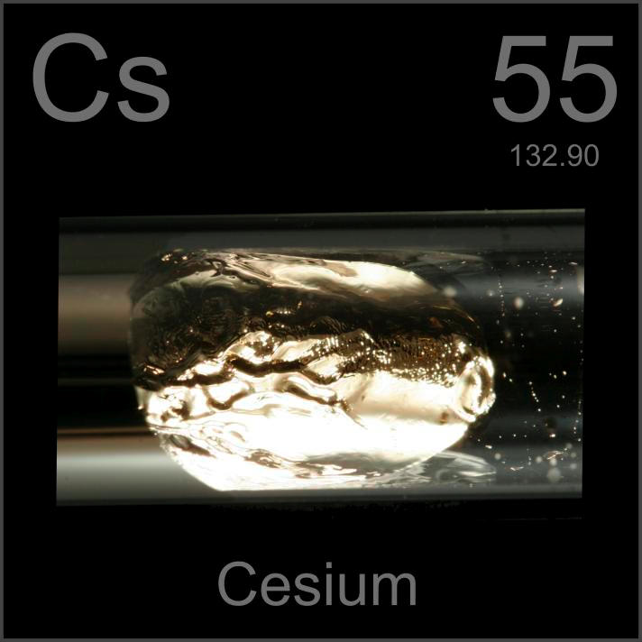 Cesium Sealed glass ampule, 99.98%