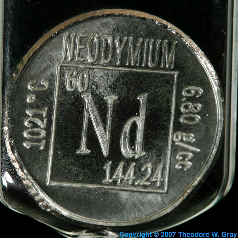 Element Coin A Sample Of The Element Neodymium In The
