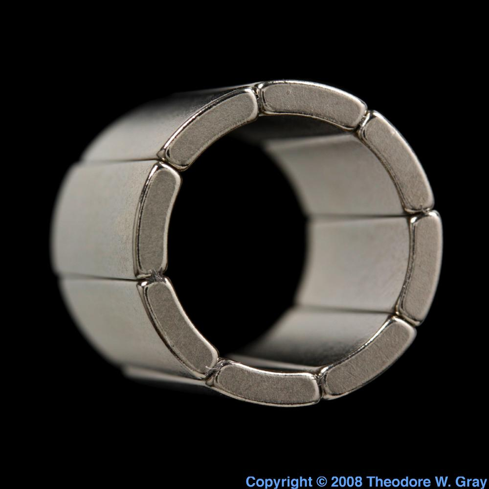 Motor magnet ring a sample of the element neodymium in the neodymium motor magnet ring gamestrikefo Choice Image