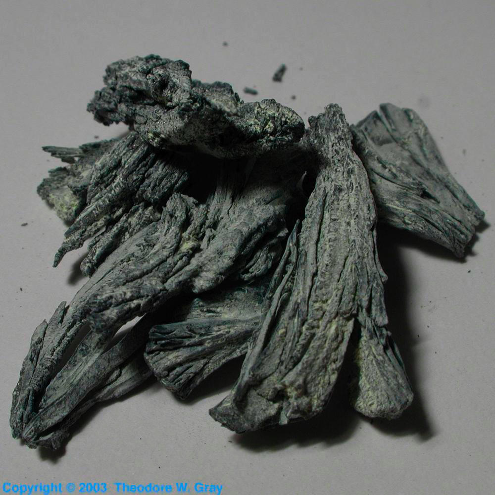 Dendritic Crystals A Sample Of The Element Samarium In