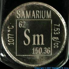 Samarium Element coin