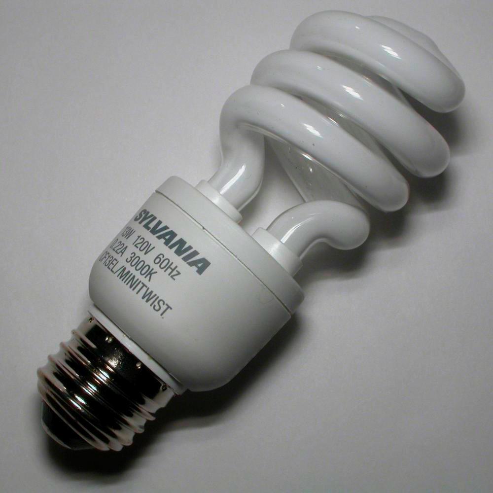 Compact Fluorescent Bulb A Sample Of The Element Europium