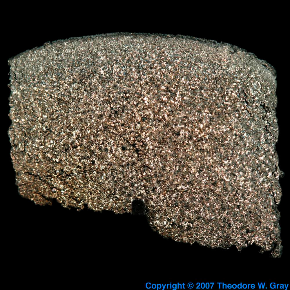 High purity crystal crust, a sample of the element Terbium ...