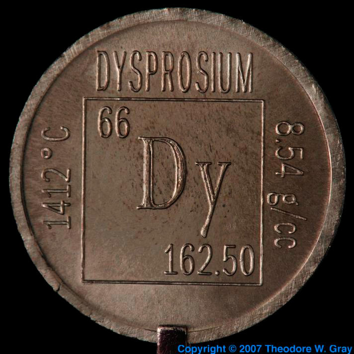 Dysprosium Element coin