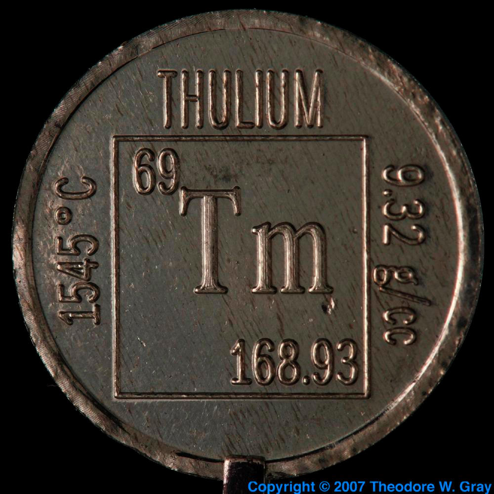 Element coin a sample of the element thulium in the periodic table thulium element coin gamestrikefo Gallery