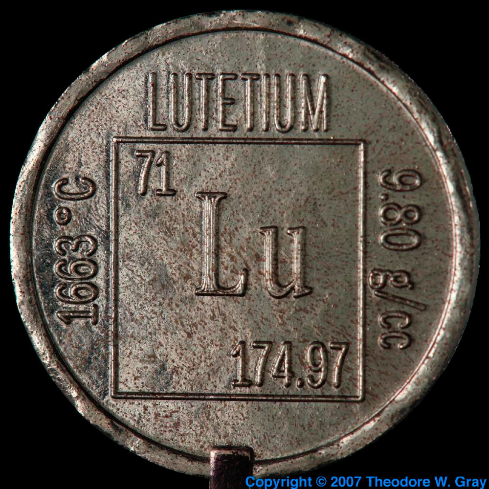 Element coin a sample of the element lutetium in the periodic table lutetium element coin gamestrikefo Images