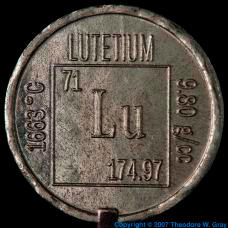 Lutetium Element coin