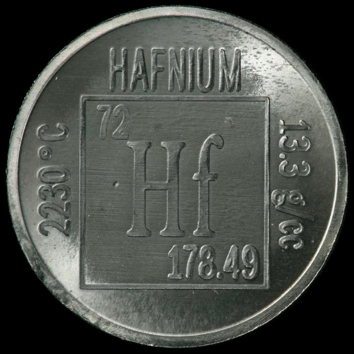Hafnium Element coin