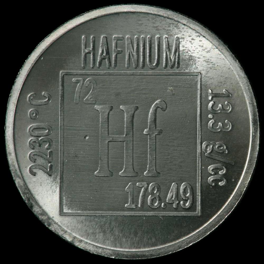 Hafnium Element Hafnium Element coin