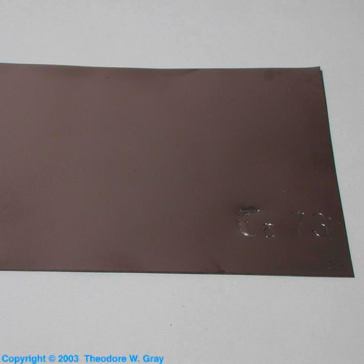 Tantalum Large rectangle of heavy foil