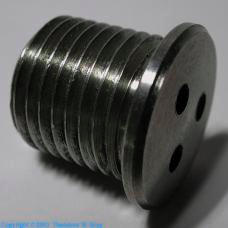 Tungsten Tungsten/zirconium alloy screw plug
