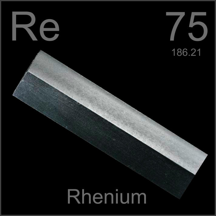 Rhenium Machined bar