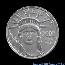 Platinum 1/10 ounce platinum coin