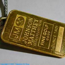 Gold One ounce bullion bar