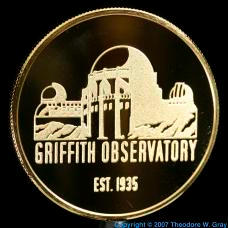 Gold Gold-plated Griffith Observatory coin