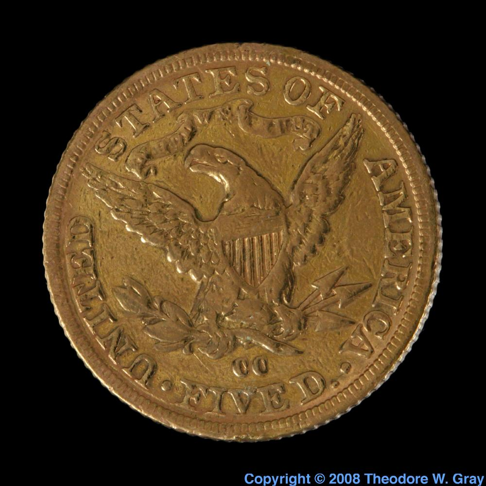 Antique coin a sample of the element gold in the periodic table gold antique coin gamestrikefo Image collections