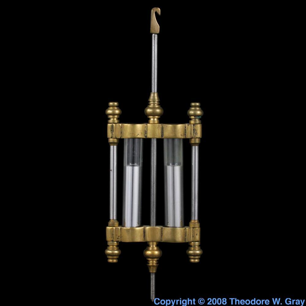 Temperature compensating pendulum a sample of the element mercury mercury temperature compensating pendulum gamestrikefo Gallery