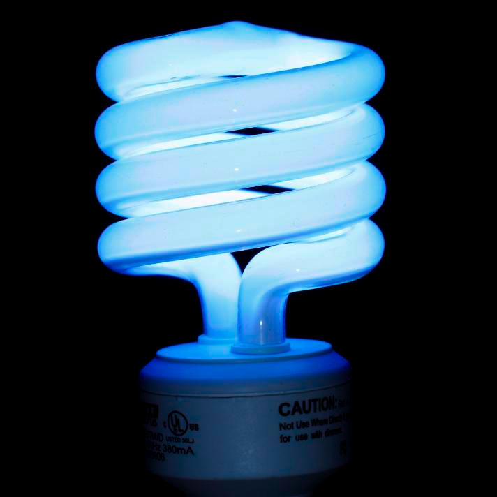 Compact Fluorescent Bulb  A Sample Of The Element Mercury