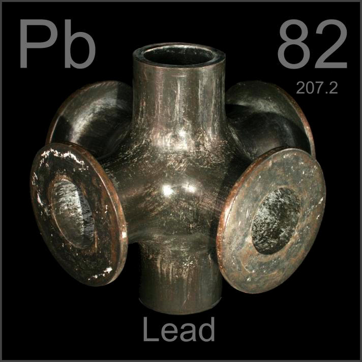 Lead 6-way pipe union