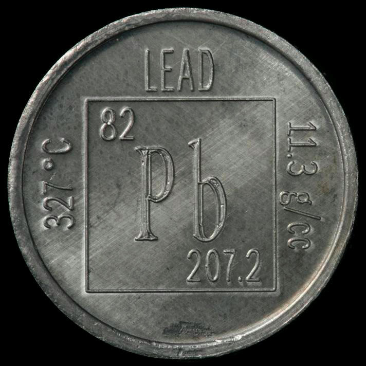 Element Coin A Sample Of The Element Lead In The Periodic