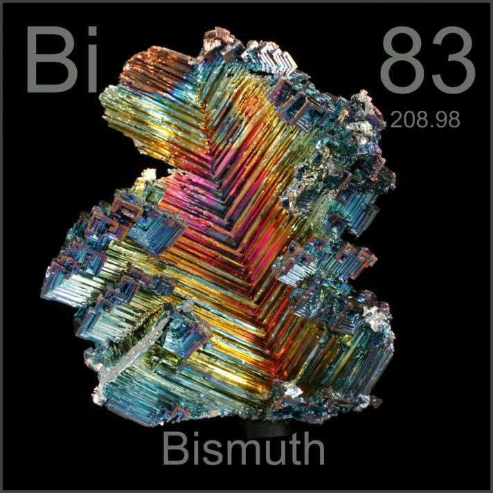 Bismuth Formerly world's largest crystal