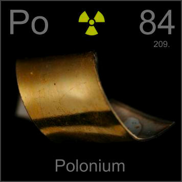 radioactive element polonium After he was killed by radioactive polonium-210, believed to have been administered in a cup of tea, it emerged the father-of-one was being paid by the british secret service mi6.