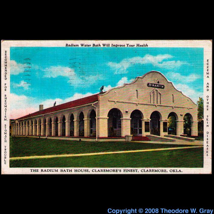 Radon Radium bath house postcard