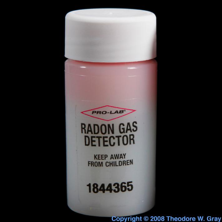Radon Single-use radon gas detector