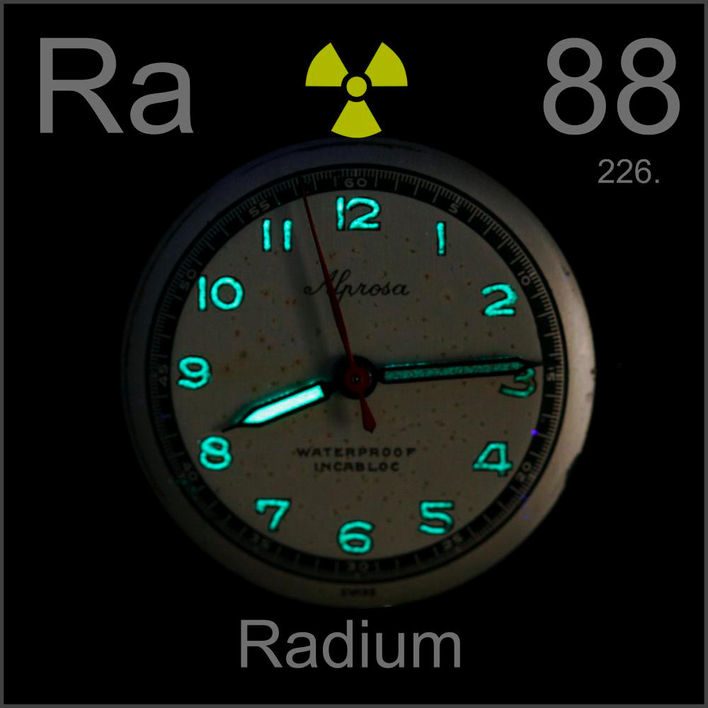 Broken wristwatch a sample of the element radium in the periodic radium broken wristwatch gamestrikefo Images