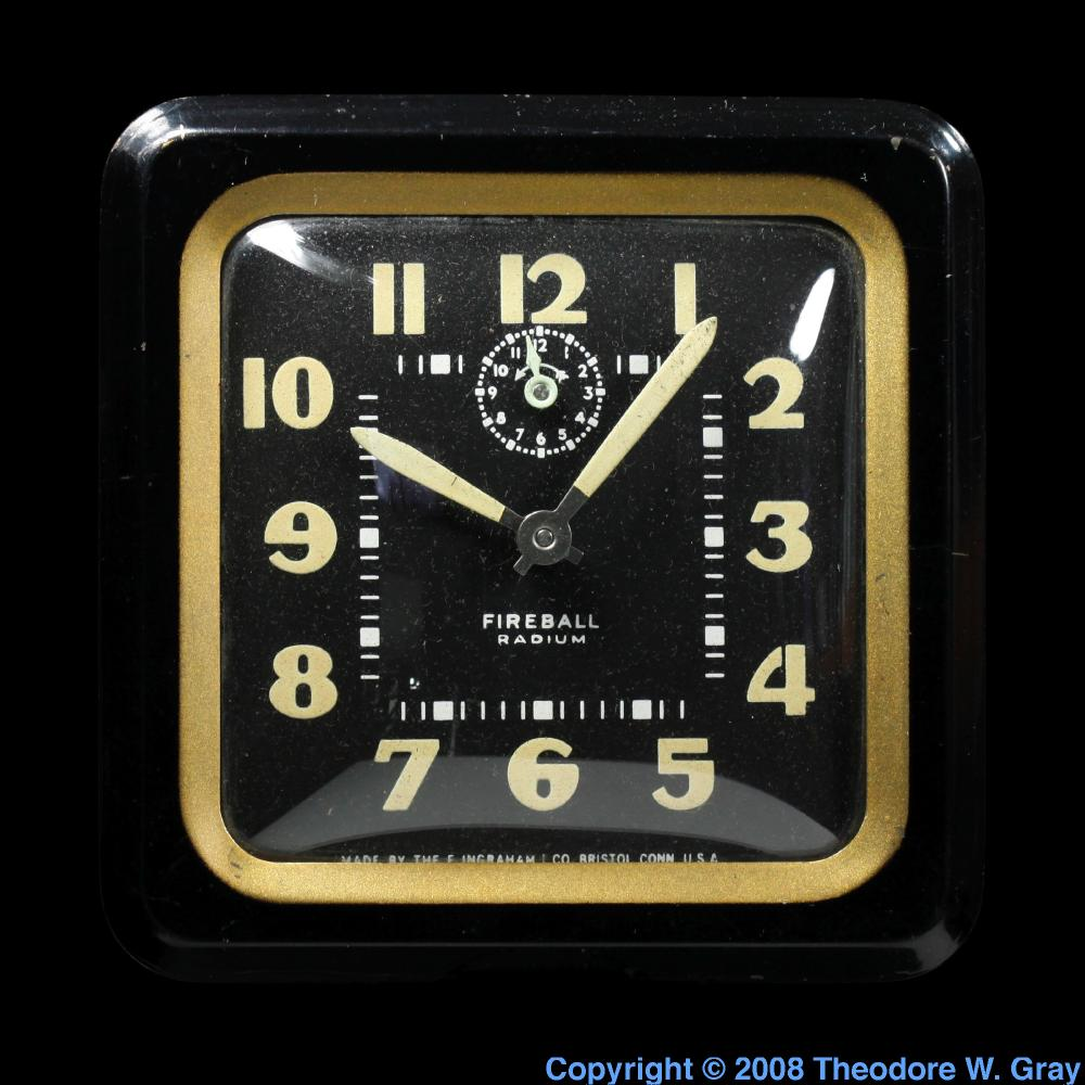 Extra Radioactive Clock A Sample Of The Element Radium In The
