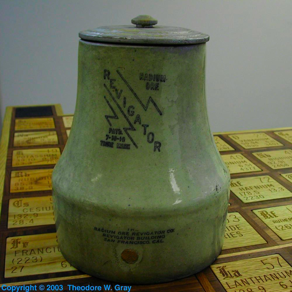 An actual Revigator, a sample of the element Radium in the ...