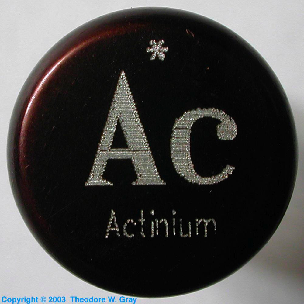 Sample From The Everest Set A Sample Of The Element Actinium In The