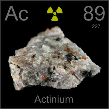 Invisibly tiny amounts of actinium occur in some radioactive minerals    Actinium Periodic Table