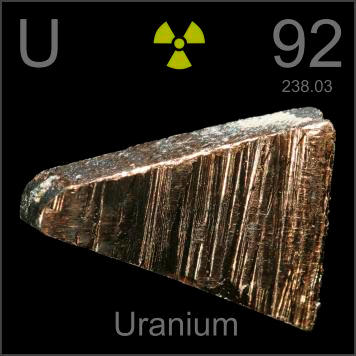 This is a chunk of depleted uranium metal  which is used in armor    Uranium Periodic Table