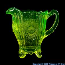 Uranium Uranium glass water pitcher