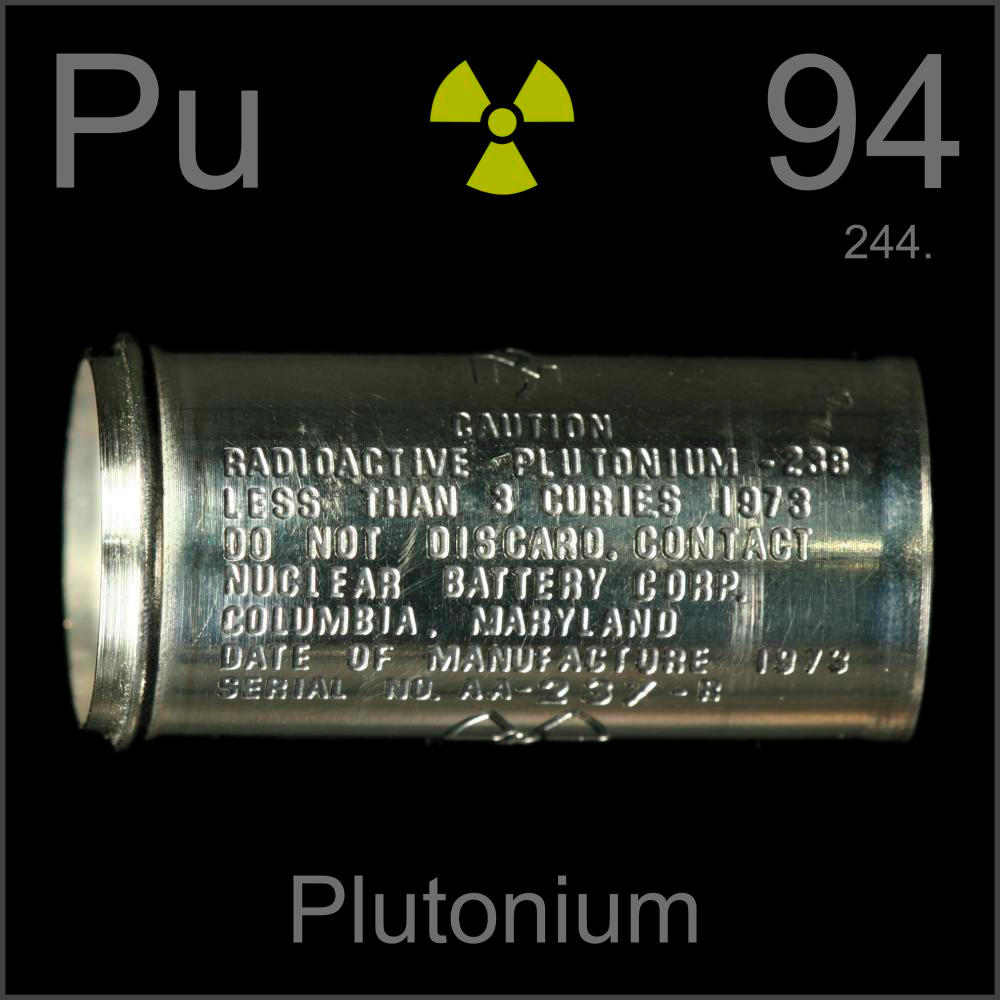 Empty nuclear battery a sample of the element plutonium in the plutonium empty nuclear battery gamestrikefo Choice Image