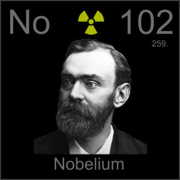 Pictures stories and facts about the element nobelium in for 102 periodic table