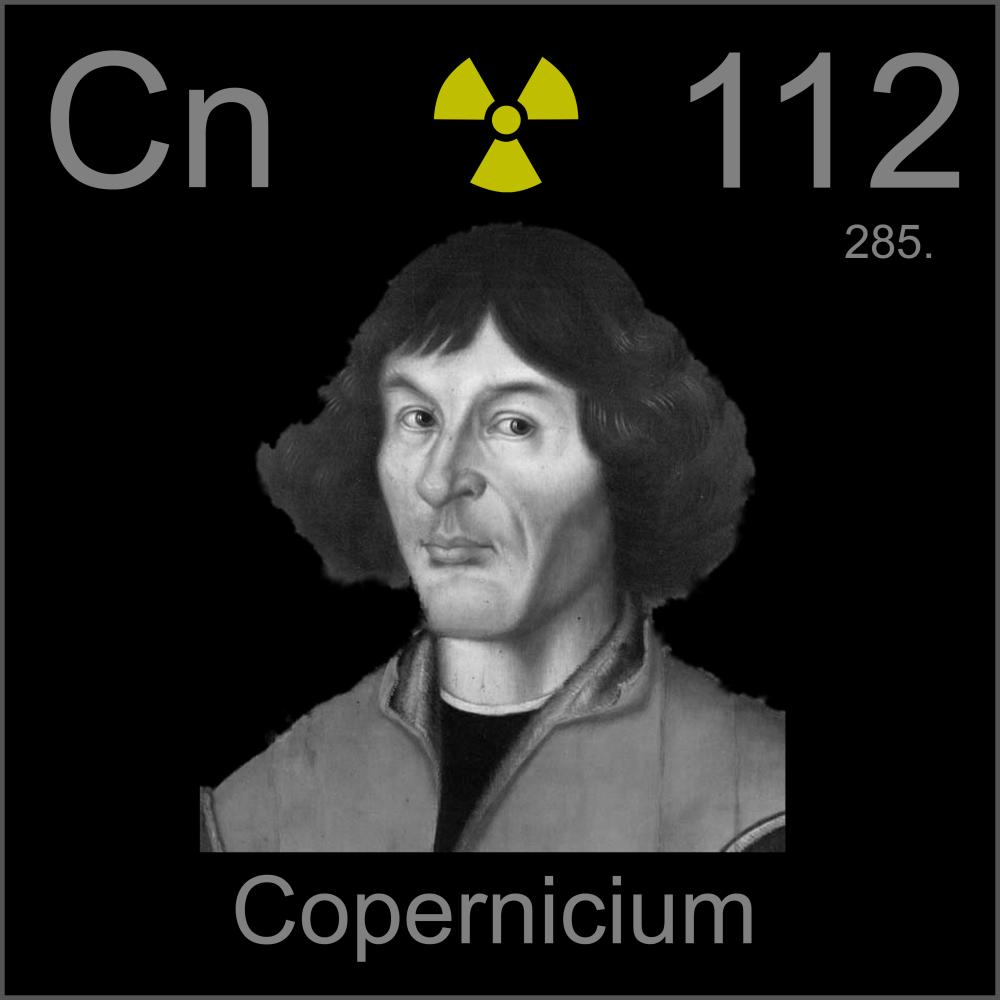 nicolaus copernicus a sample of the element copernicium