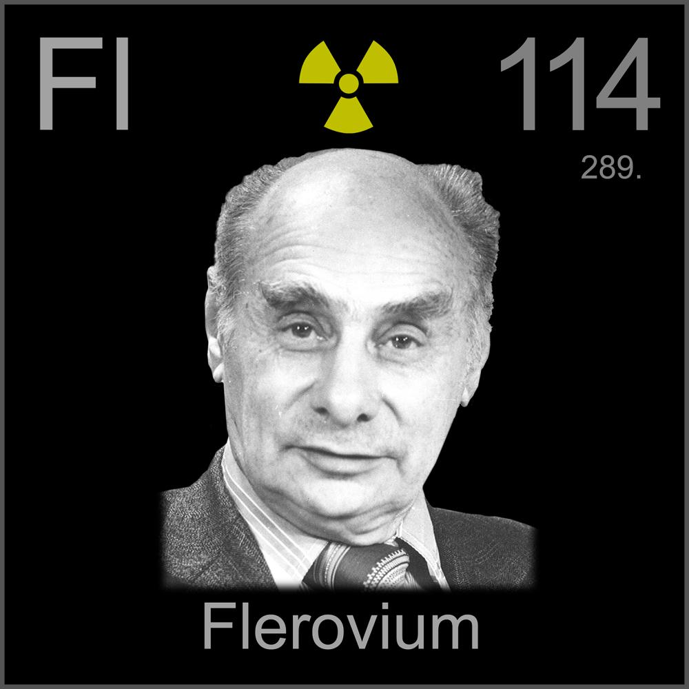 Poster sample a sample of the element flerovium in the for 114 element periodic table