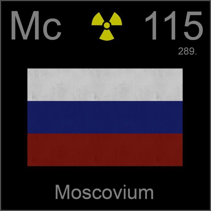 Poster sample, a sample of the element Moscovium in the ...