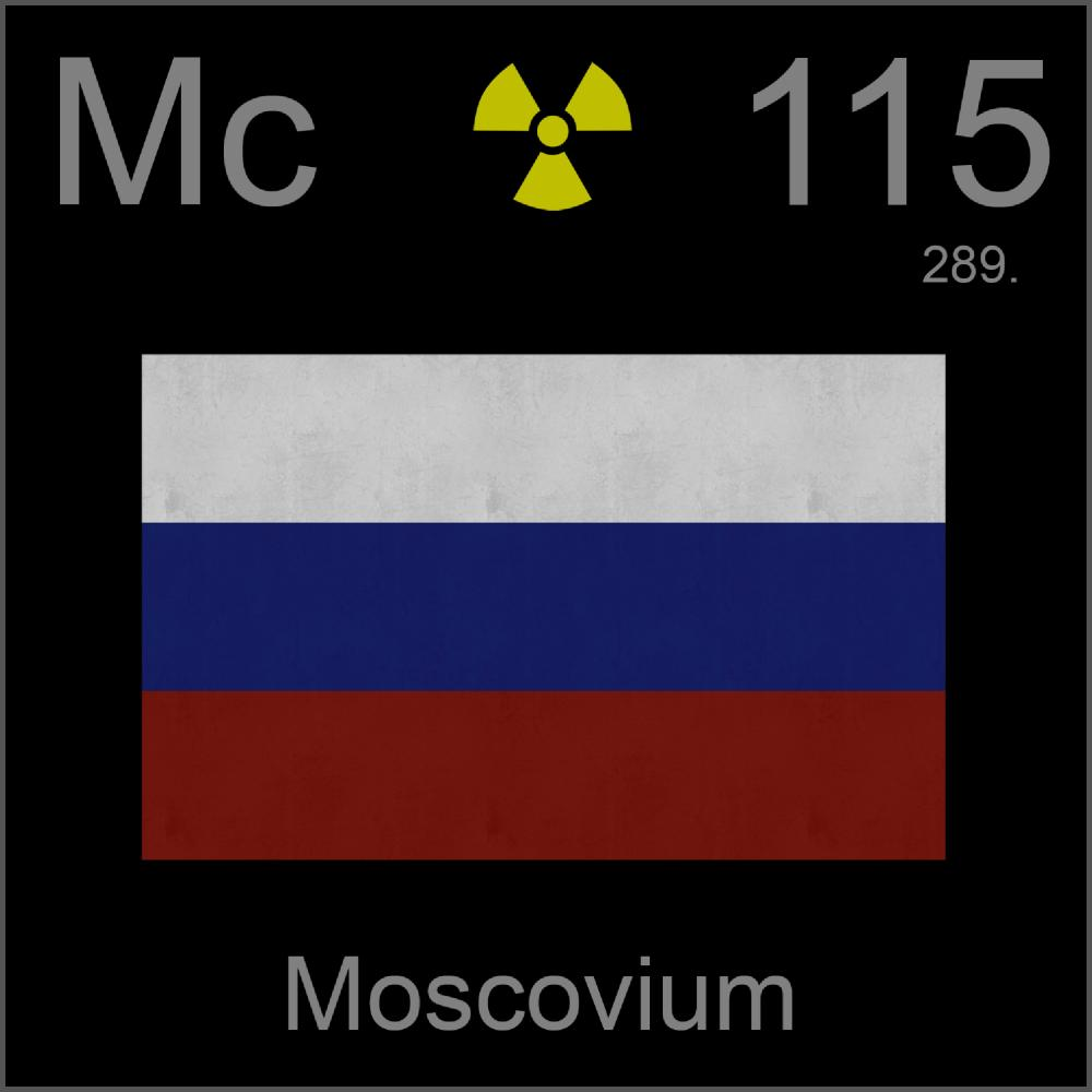 Poster sample a sample of the element moscovium in the for 115 on the periodic table