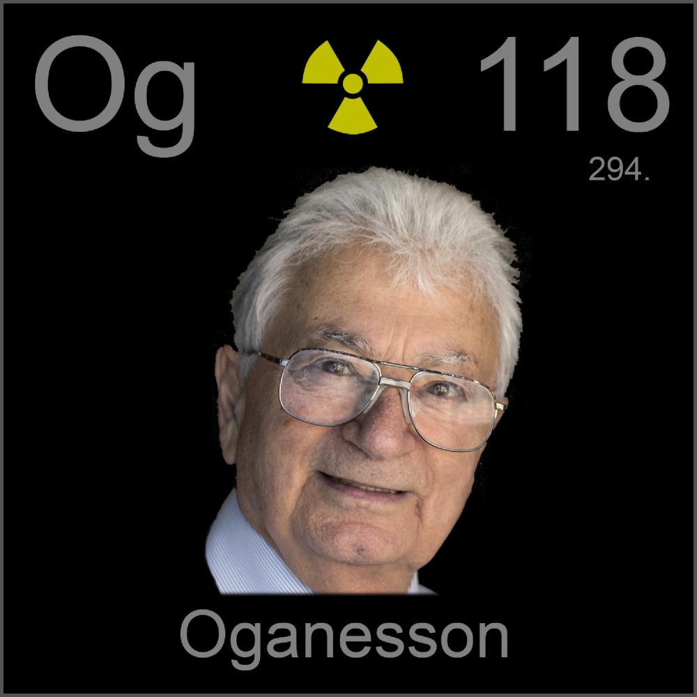 Poster sample a sample of the element oganesson in the for 118 periodic table